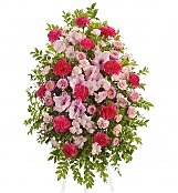 Funeral Flowers: Pink Tribute Spray