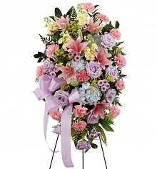 Funeral Flowers: Blessings of the Earth Easel